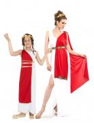 Römer-Paarkostüm für Mutter und Tochter Fasching rot-weiss-gold