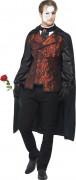 Dunkle Maskerade  Halloween Kostüm schwarz-rot