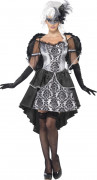 Dunkler Engel Halloween Damenkostüm grau-schwarz