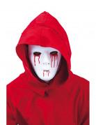 Halloween-Maske mit blutenden Wunden Vollmaske weiss-rot