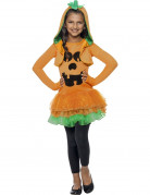 Kürbis Halloween-Kinderkostüm orange-schwarz