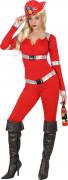 Feuerwehrfrau-Berufskostüm Feuerwehr-Damenkostüm rot-silber