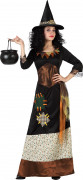 Geheimnisvolle Waldhexe Halloween-Damenkostüm bunt