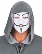 Anonymus Maske Karnevalsmaske weiss-schwarz