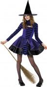Freche Hexe Halloween-Teenkostüm schwarz-lila