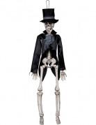 Skelett im Frack Halloween-Hängedeko schwarz-weiss 45cm