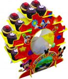 Dessert Cupcake Aufsteller Mickey Mouse Lizenzartikel bunt 29 cm hoch