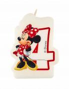 Geburtstagskerze Minnie Mouse Zahl 4 Lizenzartikel bunt