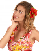 Hawaii Haarklammer Blütenschmuck rot 11cm