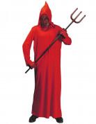 Okkultisten-Robe Teufelskostüm mit Kapuzenmaske rot-schwarz