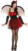 Sexy Teufelin Damenkostüm Dämonin schwarz-rot