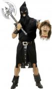 Schauriger Mittelalter-Henker Halloween-Kostüm schwarz