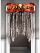 Horror-Clown Türvorhang Halloween-Party Deko bunt 96x137cm