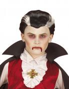 Vampir-Perücke für Kinder Halloween schwarz-weiss