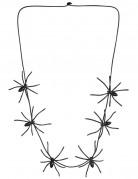 Spinnen-Schmuck Kette schwarz 60cm