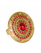 Antike Ring Römerin rot-gold
