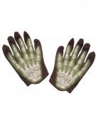 Skelett Kinderhandschuhe leuchtend schwarz-weiss