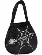 Hexe Halloween-Handtasche Spinnennetz schwarz