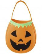 Halloween-Handtasche Kürbis orange-schwarz-grün