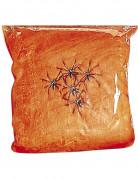 Spinnennetz mit Spinnen orange Halloween-Deko 31qm 100g