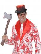 Blutverschmierte Krawatte Halloween-Kostümzubehör weiss-rot