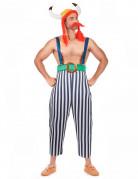 Ungeschickter Gallier Kostüm schwarz-weiss-rot