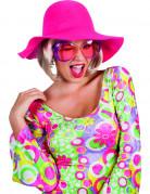 60er-Jahre Sommer-Schlapphut pink