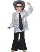 Disco-Jungenhemd Tänzer silber