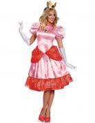 Prinzessin Peach Deluxe Damenkostüm Super Mario Videospiel rosa