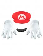 Mario Kinder-Accessoires-Set Super Mario Videospiel weiss-rot-schwarz