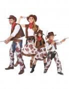 Cowboy-Familienkostüm Faschingskostüm braun-weiss