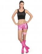 Glänzende Hotpants pink