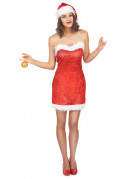 Damenkostüm Sexy Miss Santa rot-weiss
