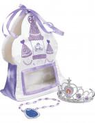 Prinzessin Sofia Mädchen-Handtasche mit Accessoires weiß-violett