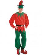 Weihnachtwichtel Kostüm Accessoire-Set 3-teilig rot-grün