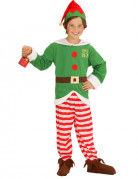 Weihnachtself Kinder-Kostüm grün-rot-weiss