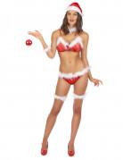 Weihnachtsfrau Bikini Unterwäsche Weihnachten rot-weiss