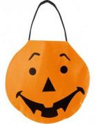 Kürbis-Tragetasche Trick or Treat Halloween orange-schwarz 27x24cm