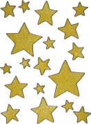 Weihnachtsdeko Gold-Sterne fürs Fenster