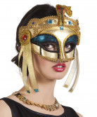 ägyptische Damen Pharaoninenmaske Halbmaske gold-türkis