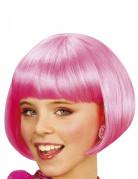 Glatte Bob-Perücke Spassperücke neon pink