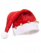 Santa Claus Mütze mit Glöckchen rot-weiss