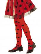 Süße Marienkäfer Strumpfhosen für Kinder rot-schwarz