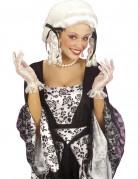 Schicke Handschuhe Spitze kurz für Damen weiss