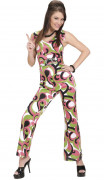 70er Disco Jumpsuit Damenkostüm Hosenanzug grün