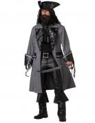 Piraten Kapitän Kostüm grau-schwarz