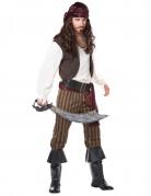 Pirat Herrenkostüm braun-weiss