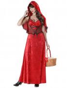 Gothic Rotkäppchen Halloween Damenkostüm rot-schwarz