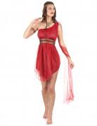 Antike Damenkostüm Sexy Römerin rot-gold