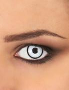 Kontaktlinse Manson weiss-schwarz